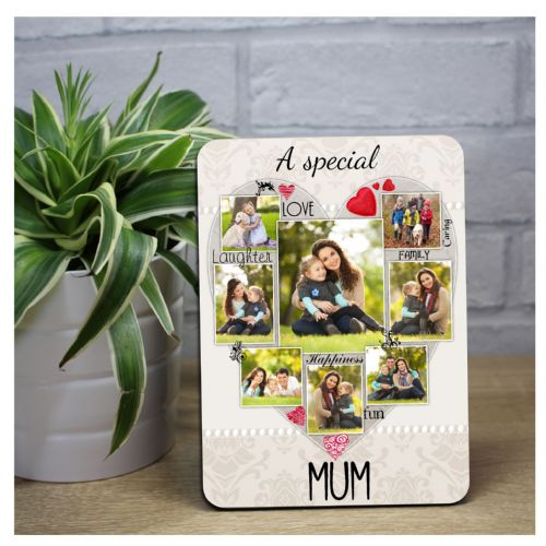 Personalised Special Mum Word Picture Art Wood Photo Frame Panel F50 Mothers Day Birthday Gift